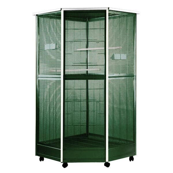Indoor Aviary Corner Bird Cage AE 100G-2 Green Medium