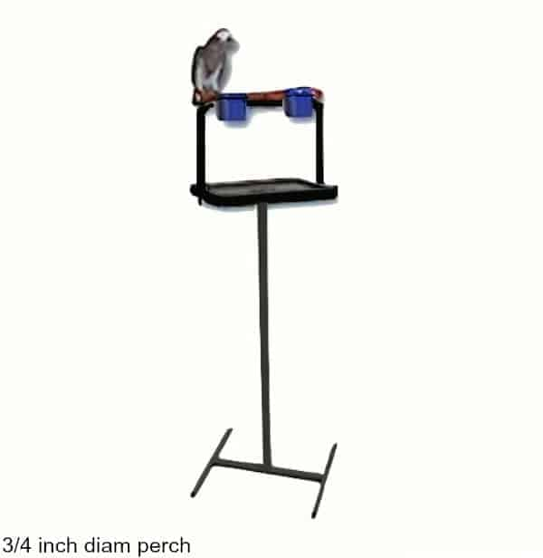 Traveler Bird Stand Black W 3/4 Inch Perch