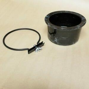 Ceramic Bird Cage Crock And Ring 6401 14 oz Black Marble