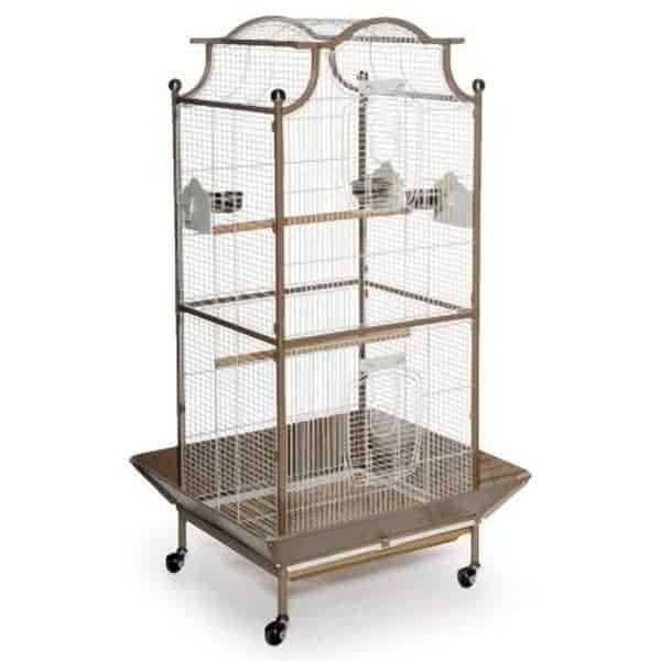 Elegant Top Bird Cage for Small Birds by Prevue 3141 Coco & White