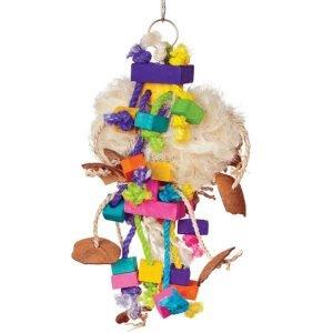 Bodacious Bird Toy for Medium to Large Parrots – Tough Puff