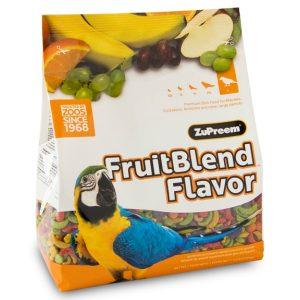 Zupreem Fruit Blend Large Parrot Avian Maintenance 17.5 lb (7.94 kg)