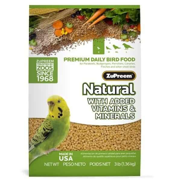 Zupreem Natural Parakeet Bird Food Pellets 2.25 lb (1.02 kg)