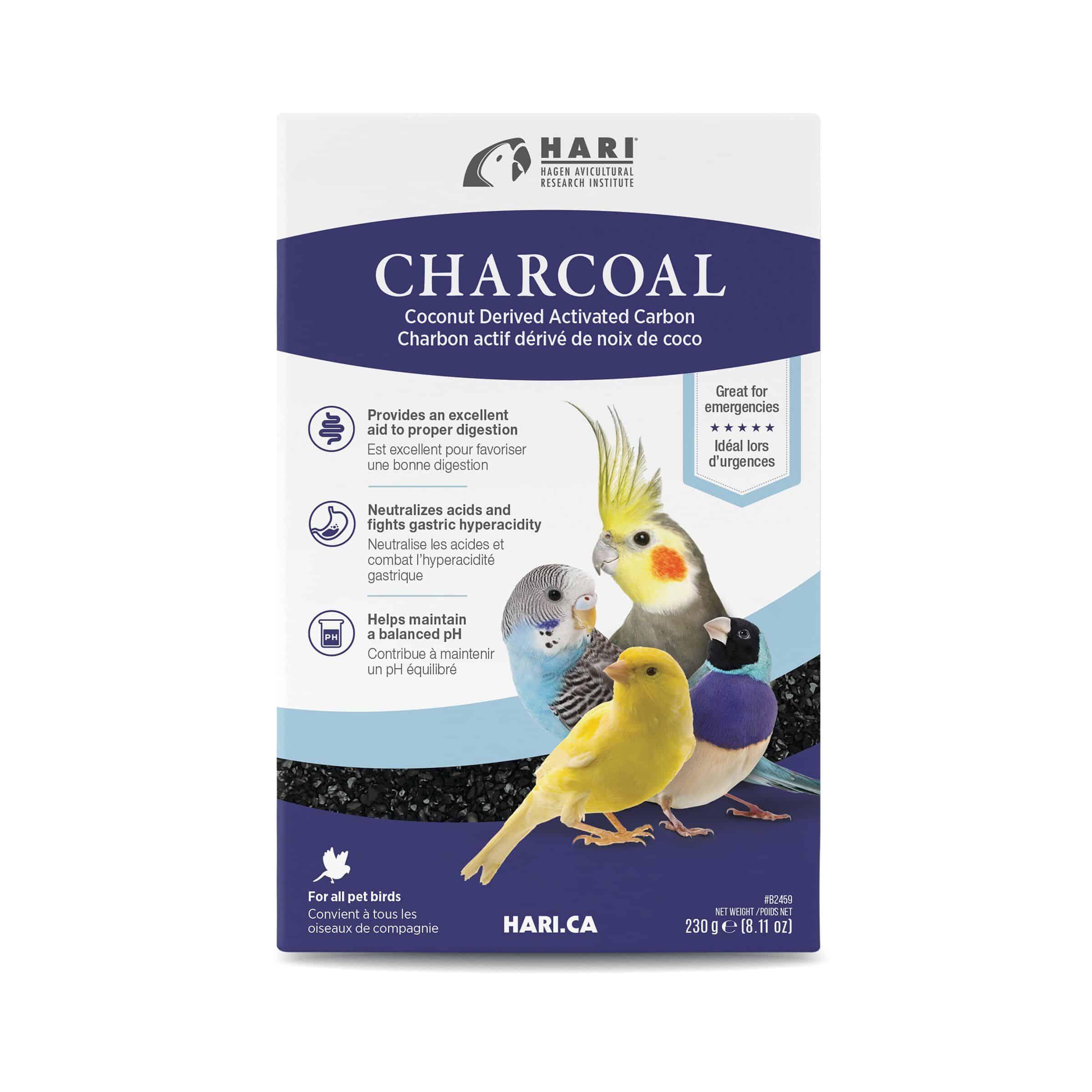 Bird Charcoal Supplement by Hagen Hari 8.11oz (230g) Box