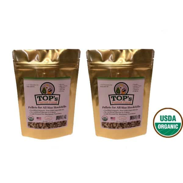 TOPS Parrot Food Pellets For All Size Hookbills 2 Pack 4 Lb 8 Lbs Total
