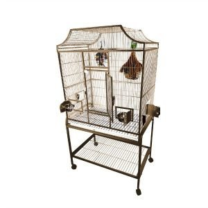 Elegant Top Flight Cage for Smaller Birds by AE MA3824FL Platinum