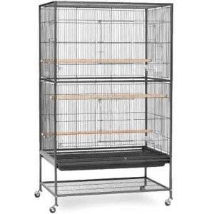 Indoor Aviary Flight Cage for Small Birds Prevue F040 Black