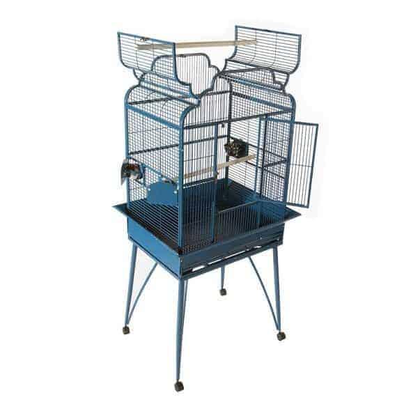 Elegant Top Bird Cage for Smaller Birds by AE B-2620 Platinum