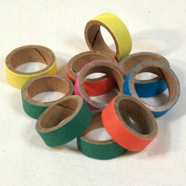 Birdie Bagels Mini 1 in x 1/2 in Paper Chew Rings for Birds 12 pc