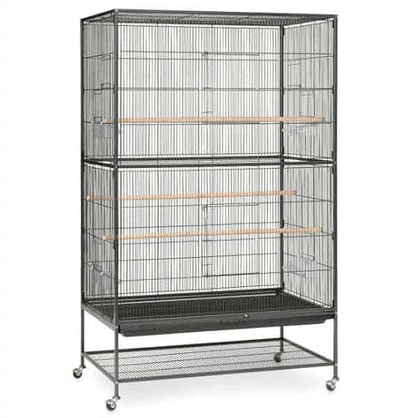 Indoor Aviary Flight Cage for Small Birds Prevue F050 Black