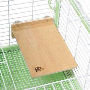 Flat Perch Wood Platform Shelf Birds Animals 3201 Large 12″