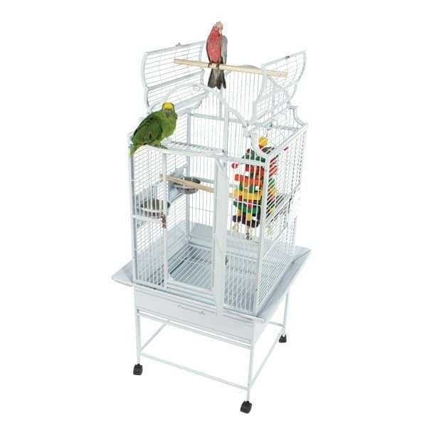 Elegant Top Bird Cage for Smaller Birds by AE GC6-2422 Platinum