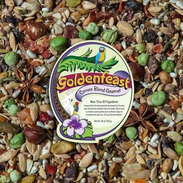 Goldenfeast Conure Blend Bird Food Peanut Free 28 oz (794 G)
