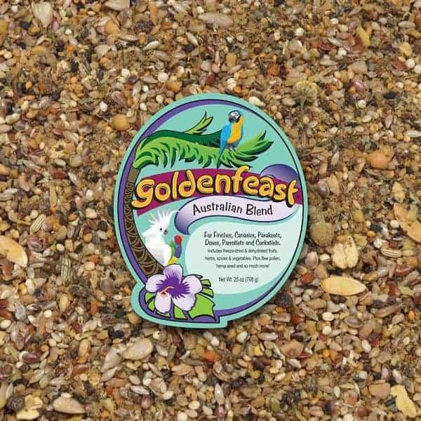 Goldenfeast Australian Blend Small Exotics Bird Food 64 oz (1.81 kg)
