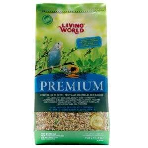 Living World Premium Mix by Hagen Hari Budgie Parakeet 2 lb (1.36 kg)