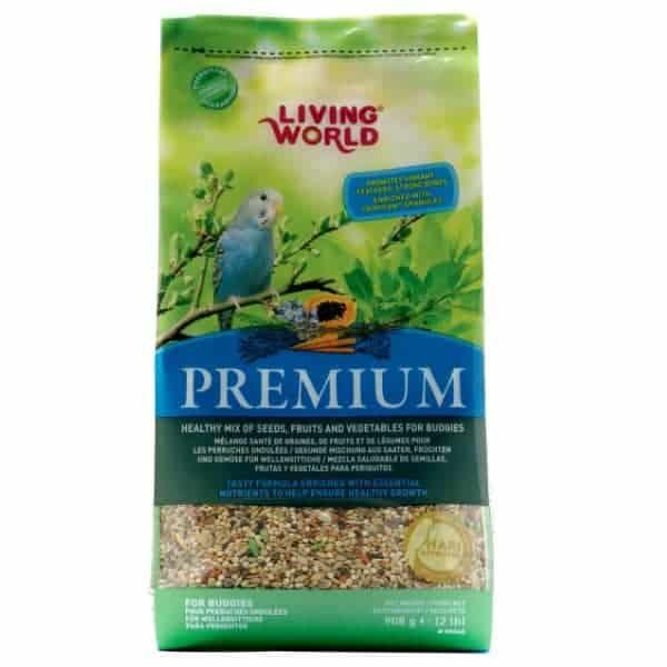 Living World Premium Mix by Hagen Hari Budgie Parakeet 2 lb