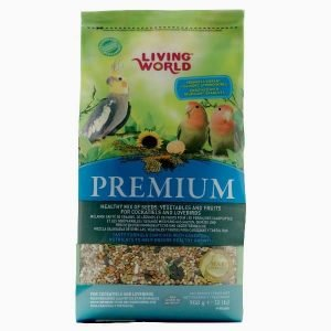 Living World Premium Mix by Hagen Hari Cockatiels And Lovebirds 2 lb