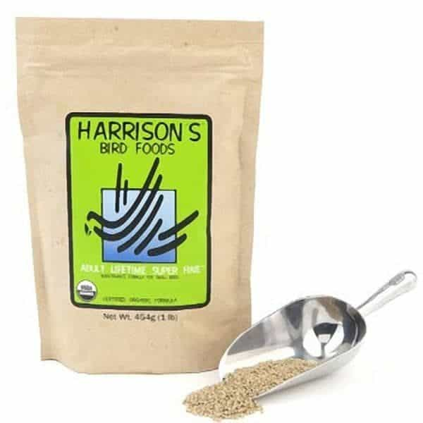 Harrisons adult lifetime super fine organic bird food 454 g 1 lb 3
