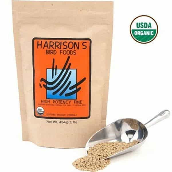 Harrisons high potency fine non gmo organic bird food 454 g 1 lb 8
