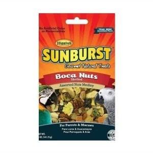 Higgins Sunburst Boca Nuts Shelled Nuts & Fruit Parrot Treats 5 oz