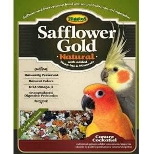 Higgins Safflower Gold Conure Cockatiel No Sunflower 25 lb