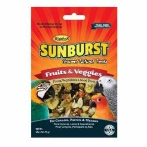 Higgins Sunburst Fruits And Veggies Parrot Treat Large 20 lb