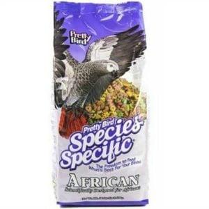 Pretty Bird African Grey & Conure Bird Food Pellets 8 lb