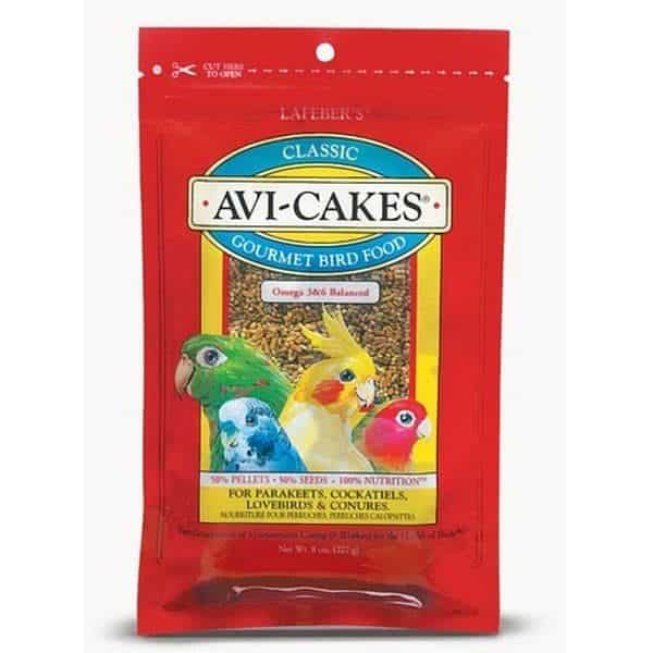 Lafebers classic avi cakes for small birds 227 g 8 oz 3