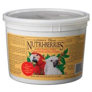 Lafebers Classic Macaw Cockatoo Nutri-berries 3.5 lb (1.59 Kg)