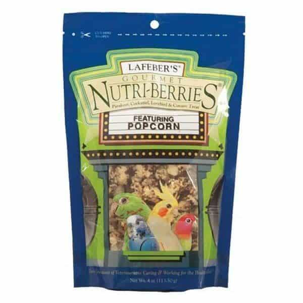Lafebers cockatiel popcorn nutri berries 113. 5 g 4 oz 3
