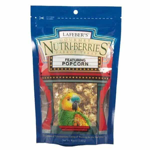 Lafebers parrot popcorn nutri berries 113. 5 g 4 oz 2
