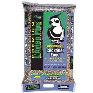 L'Avian Cockatiel Food Plus Premium Seed Mix 25 lb