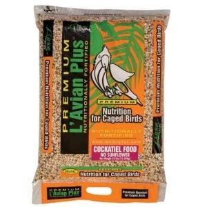 L'Avian Cockatiel Food Plus Premium Seed Mix No Sunflower 25 lb
