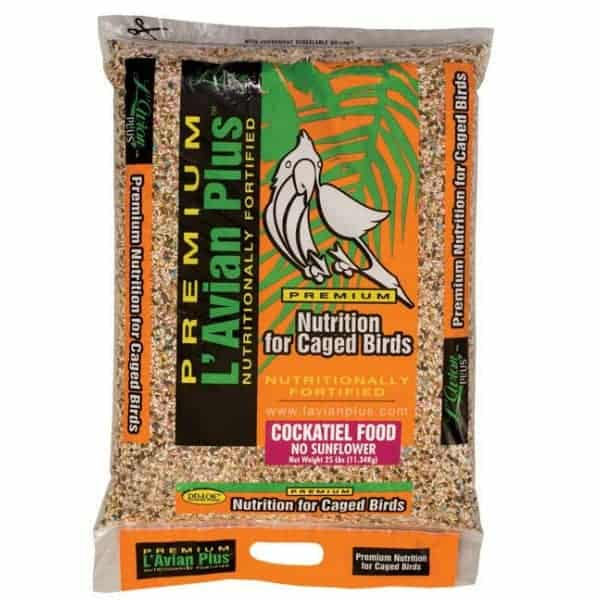L'Avian Cockatiel Food Plus Premium Seed Mix No Sunflower 25 lb (11.34 Kg)