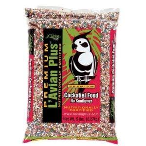 L'Avian Cockatiel Food Plus Premium Seed Mix No Sunflower 5 lb