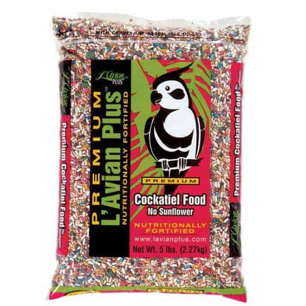 L'Avian Cockatiel Food Plus Premium Seed Mix No Sunflower 5 lb (2.27 Kg)