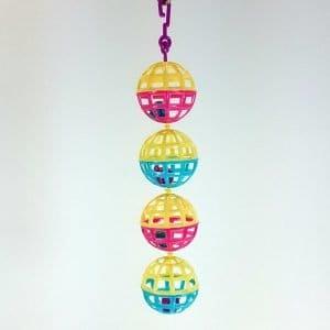 Lattice Balls with Bells Hanging Toy For Small Birds 81708 Hagen Hari