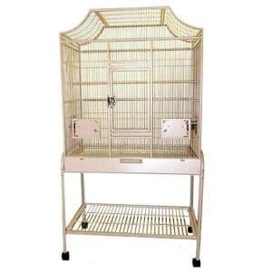 Elegant Top Flight Cage for Smaller Birds by AE MA3221FL Platinum