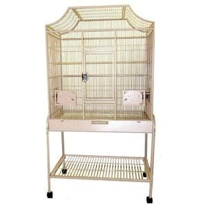Elegant Top Flight Cage for Smaller Birds by AE MA2818FL Platinum