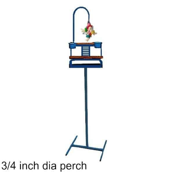 Deluxe Traveler Floor Stand Midnight Blue w 3/4 inch Perch