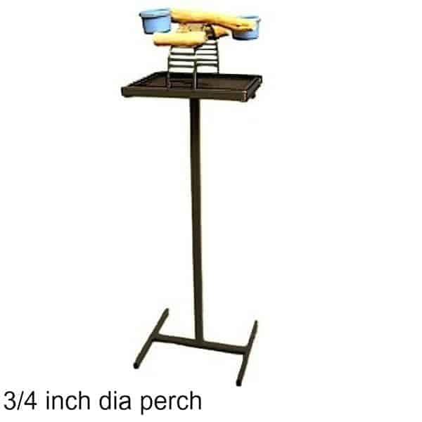 Hilltop Playtop Traveler Bird Stand Black w 3/4 inch Perch