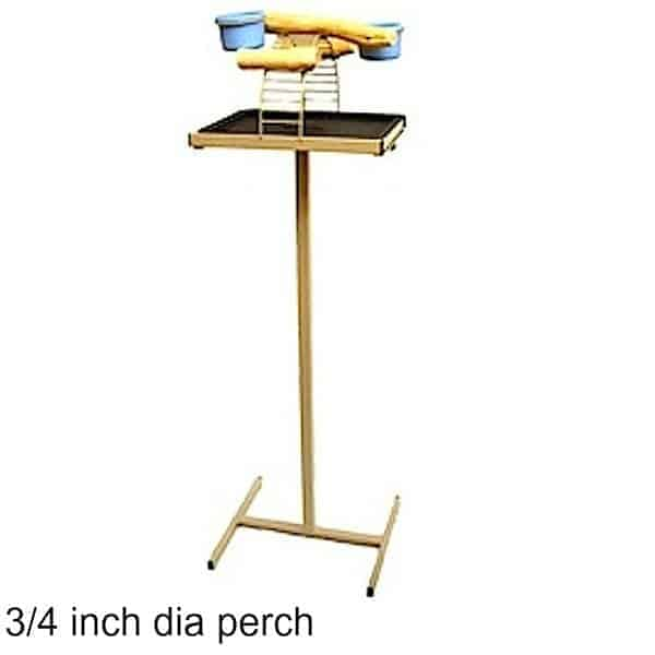 Hilltop Playtop Traveler Bird Stand Desert Stone w 3/4 inch Perch