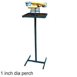 Hilltop Playtop Traveler Bird Stand Midnight Blue w 1 inch Perch