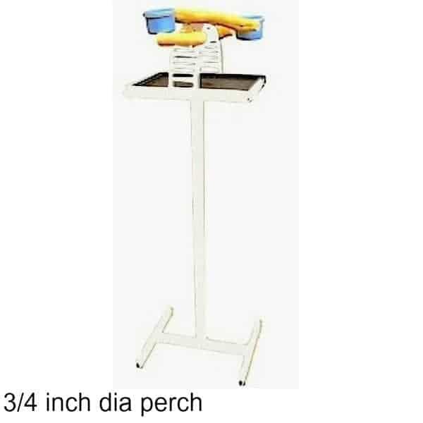 Hilltop Playtop Traveler Bird Stand White w 3/4 inch Perch