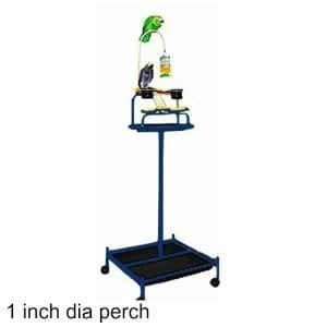 Power Tower Bird Stand Midnight Blue w 1 inch Perch
