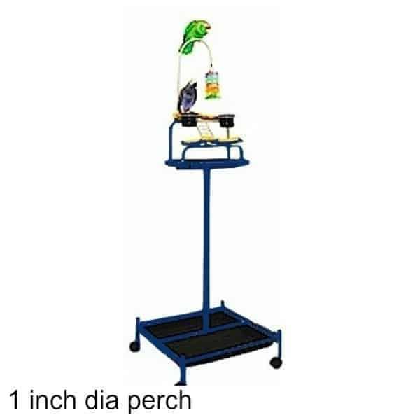 Mango powertower bird stand midnight blue 1 inch perch 2