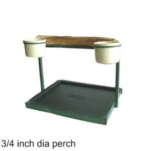 Traveler Table Top Bird Stand Green w 3/4 inch Perch