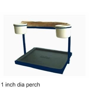 Traveler Table Top Bird Stand Midnight Blue w 1 inch Perch
