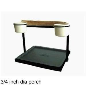Traveler Table Top Bird Stand Black w 3/4 inch Perch