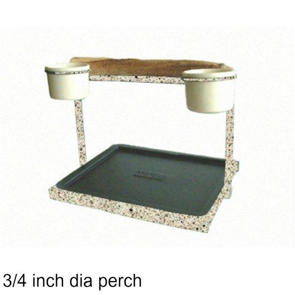 Traveler Table Top Bird Stand Desert Stone w 3/4 inch Perch